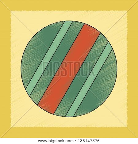 flat shading style icon Kids toy ball