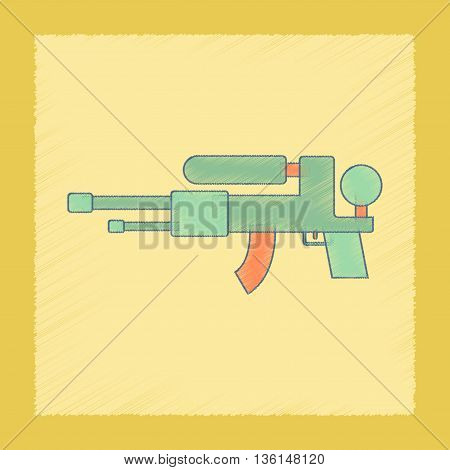 flat shading style icon Kids toy water gun