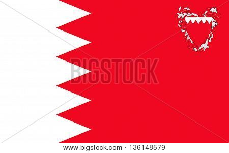 Flag of Bahrain officially the Kingdom of Bahrain is an island country situated near the western shores of the Persian Gulf in the Middle East