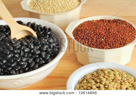 Black Beans, Lentils, And Quinoa