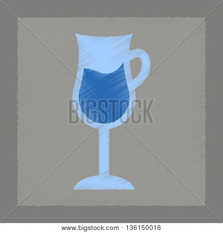 flat shading style icon coffee glass cup