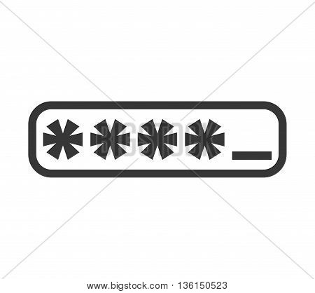 Security system concept represented by code icon. isolated and flat illustration