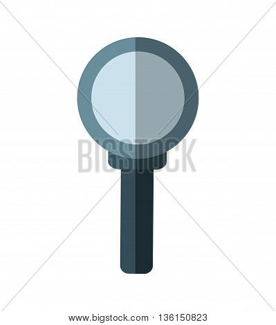 Search and instrument concept represented by magnifying glass icon. isolated and flat illustration