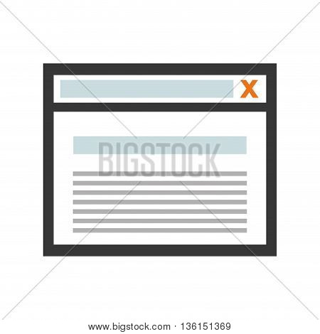 Security system concept represented by website icon. isolated and flat illustration