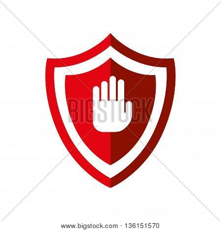 Security system concept represented by shield icon. isolated and flat illustration