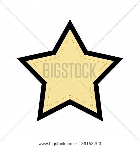Basic shape concept represented by star of five points  icon. isolated and flat illustration