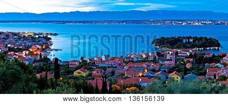 Island of Ugljan evening coast panorama Dalmatia Croatia