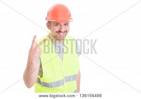 Smiling Constructor Counting Or Showing Number Two