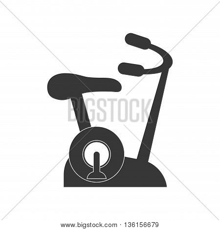 Healthy lifestyle and fitness concept represented by spinning machine icon. isolated and flat illustration