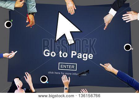 Go To Page Enter Button Interface Concept