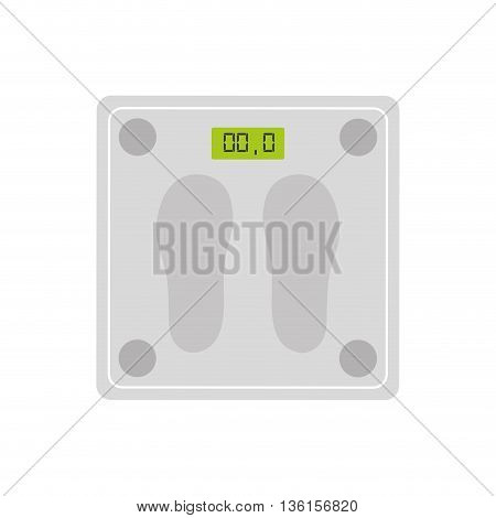 Weight concept represented by scale icon. isolated and flat illustration