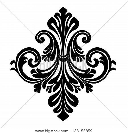 Vintage baroque frame scroll ornament , decor ornament, graphic ornmanet, elegant ornament, scroll ornament, refined ornament, silhouette ornament, decorative ornament. Vector.