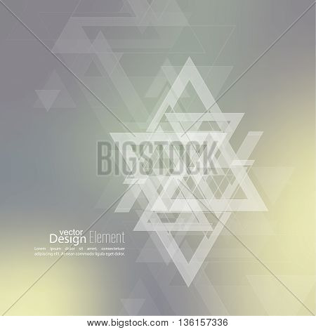 Abstract blurred background with hipster stream flying triangles debris. Pattern subtle. For cover book, brochure, flyer, poster, layout, template, magazine, t-shirt. Vector design color multicolor
