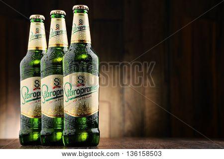 Three Bottles Of Staropramen Beer