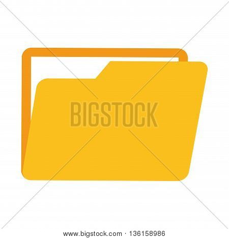 File concept represented by folder icon. isolated and flat illustration