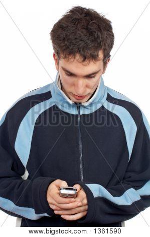 Teenager Sending Sms