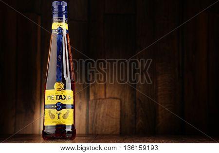 Bottle Of Metaxa Liqueur