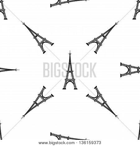 Eiffel Tower Seamless Background. French Tower Pattern. Symbol of Paris