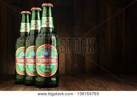 Tree Bottles Of Tsingtao Beer