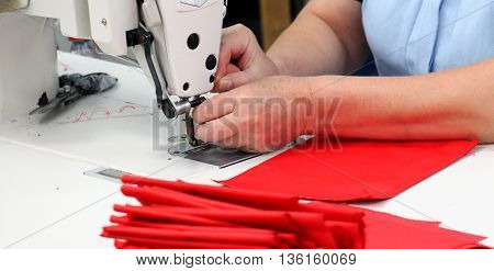 picture of a Female worker on textile production industry