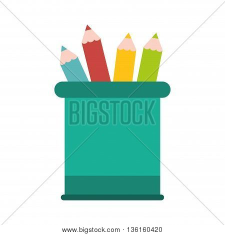 School and education concept represented by pencil icon. isolated and flat illustration