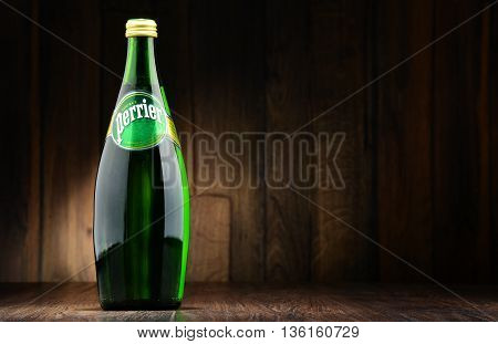 Bottle Of Perrier Mineral Water