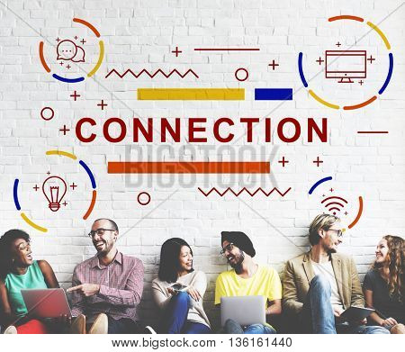 Connection Networking Online Social Network Concept