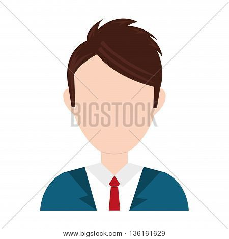 Businesspeople concept represented by avatar man icon. isolated and flat illustration
