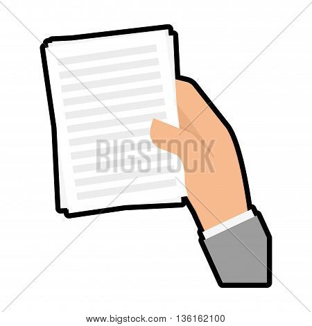 Data concept represented by piece of paper icon. isolated and flat illustration