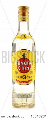 POZNAN POLAND - JUNE 23 2016: Havana Club is a brand of rum created in Cuba in 1934 and now one of the best-selling rum brands in the world