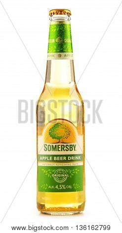 Bottle Of Somersby Cider Drink Isolated On White
