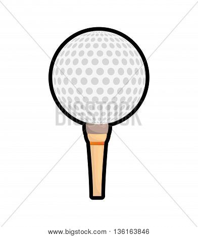 Golf Sport concept represented by ball icon. isolated and flat illustration