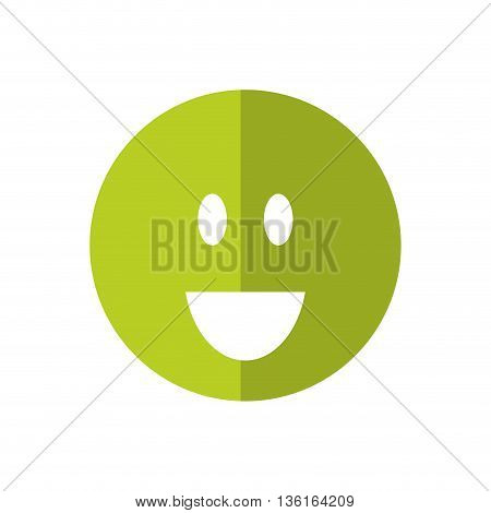 Thinking concept represented by Positive feeling icon. isolated and flat illustration