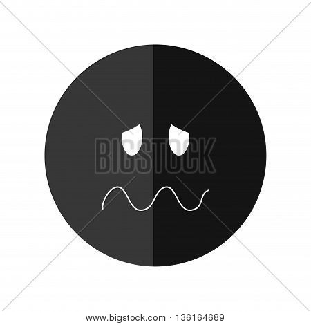 Thinking concept represented by Negative feeling icon. isolated and flat illustration