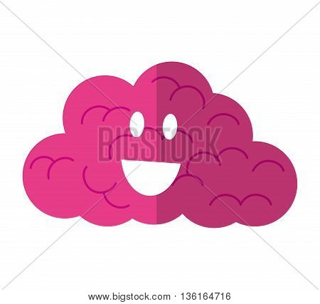 Thinking concept represented by Positive feeling on cloud icon. isolated and flat illustration