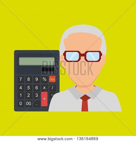 User calculator design, vector illustration eps10 graphic