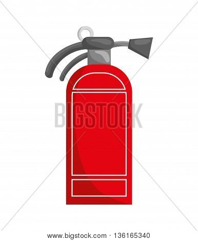 Security and insurance concept represented by extinguisher icon. isolated and flat illustration