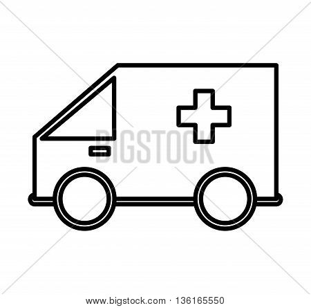 Security and insurance concept represented by ambulance icon. isolated and flat illustration