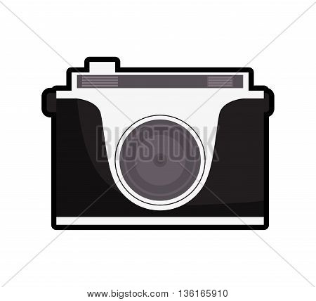 Gadget concept represented by Camera icon. isolated and flat illustration