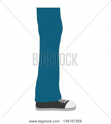 Human body concept represented by male Legs icon. isolated and flat illustration
