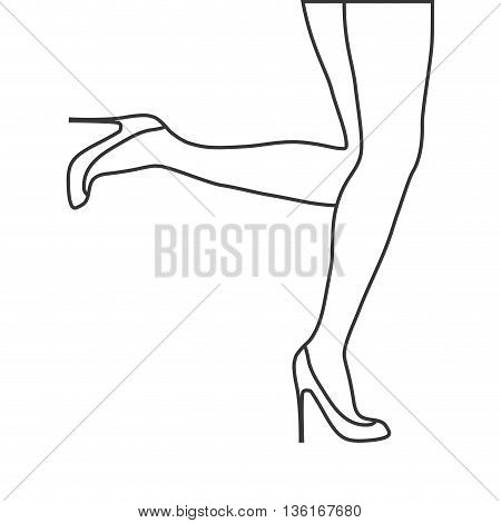 Human body concept represented by female Legs icon. isolated and flat illustration