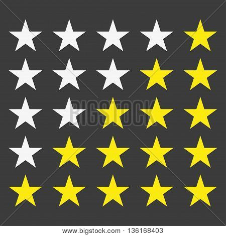 Simple star rating. With outlines makes the stars pop out from background