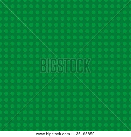 Green plastic construction plate. Seamless pattern background. Vector illustration
