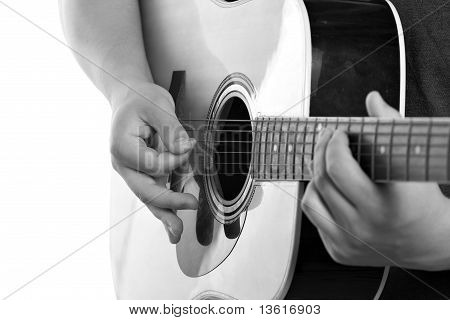 Electric Acoustic Guitarist
