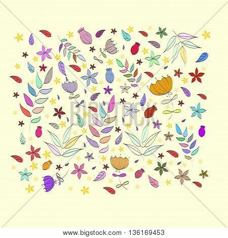 Pattern flower for textile, web background design