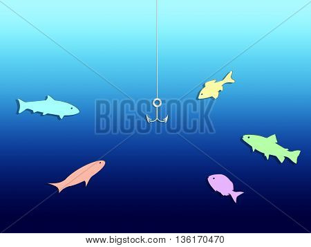 Lots of fish in the sea. Abstract