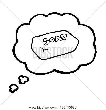 freehand drawn thought bubble cartoon soap