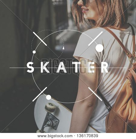 Hobby Skater Passion Inspire Fun Concept
