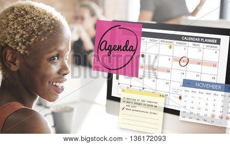 Agenda Planner To Do List Planning Concept