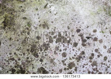 Old dirty stone texture closeup shot top view